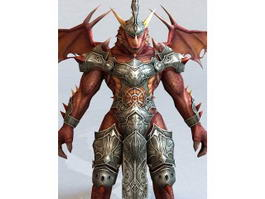 Dragonkin Male Warrior 3d preview
