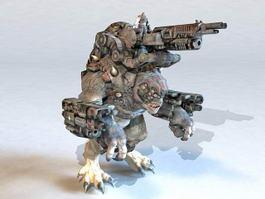 War Machine Cyborg Monster 3d preview