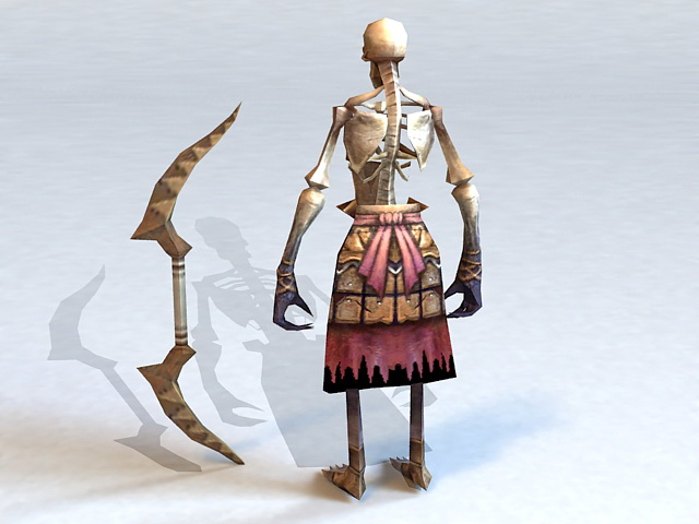 Skeleton Archer 3d rendering