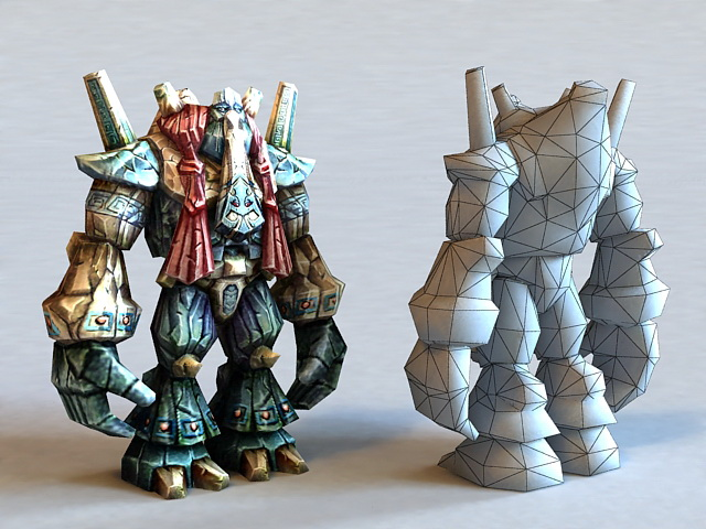 Colossus Monster 3d rendering