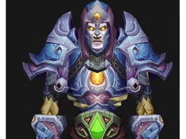WoW Undead Mage 3d preview