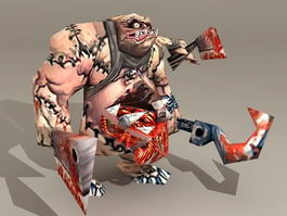 Warcraft Abomination 3d model preview