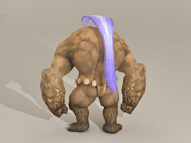 Giant Earth Monster 3d rendering