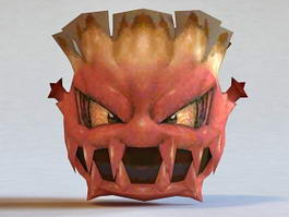 Devil Monster Head 3d preview