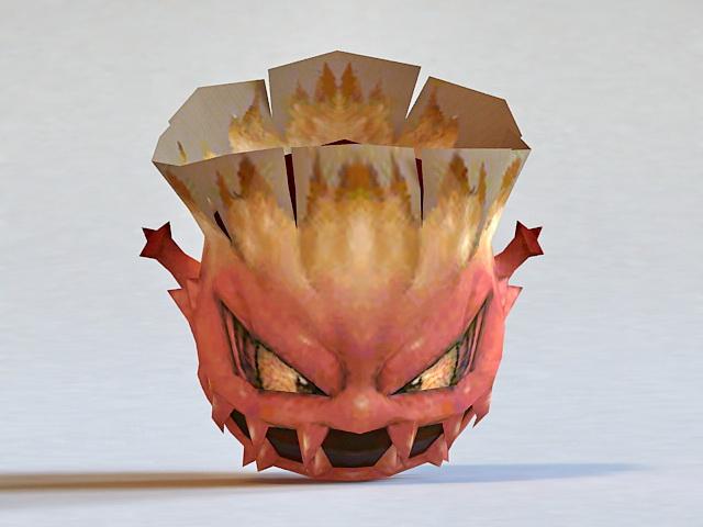 Devil Monster Head 3d rendering