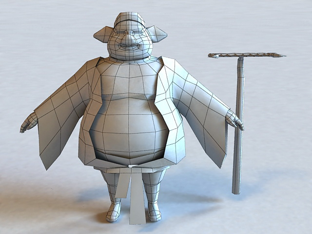 Chinese Mythical Zhu Bajie 3d rendering