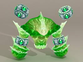 Water Elemental Creature 3d model preview