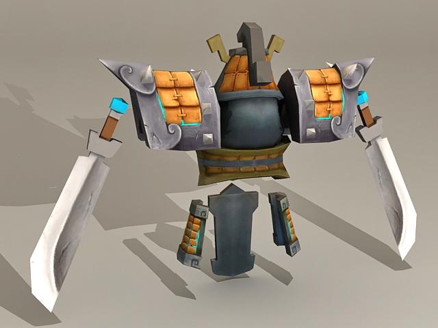 Ancient Armor & Swords 3d rendering