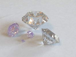 Purple Diamonds 3d model preview