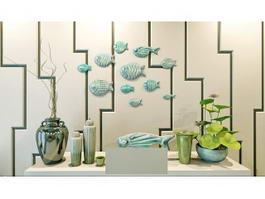 Fish Wall Decor 3d model preview