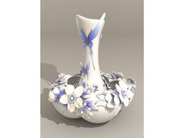 Butterfly Vase 3d model preview
