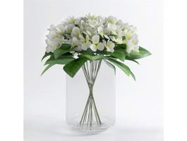 Glass Vase with Flowers 3d preview