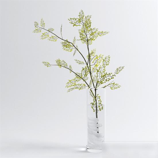 Tree Branch Vase 3d rendering