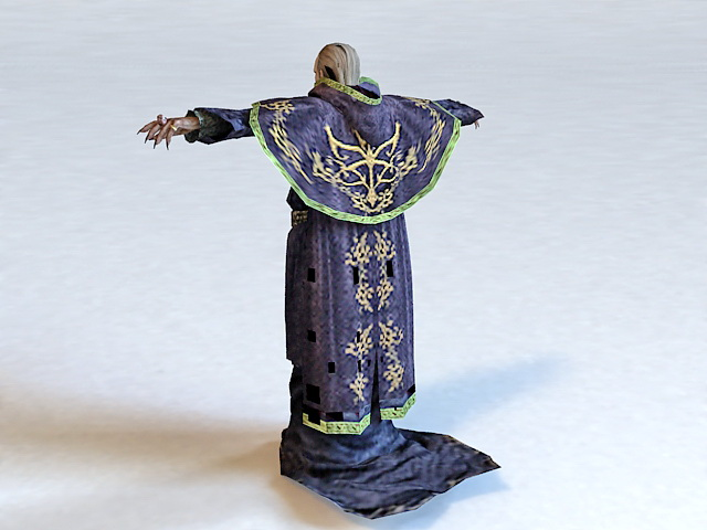 Medieval Friar 3d rendering