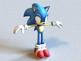 Sonic Unleashed Hedgehog Character 3d model preview