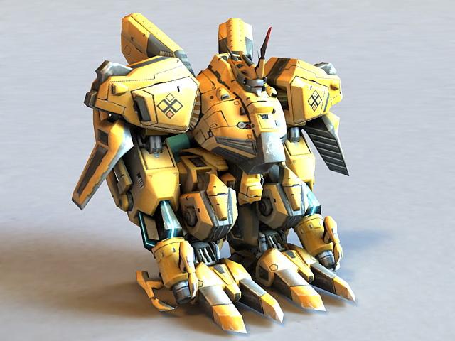 Combat Mech 3d rendering