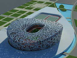 Birds Nest Stadium Beijing 3d preview