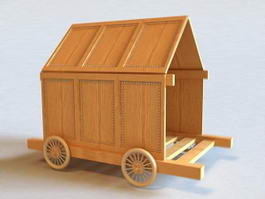 Wooden Carriage 3d preview