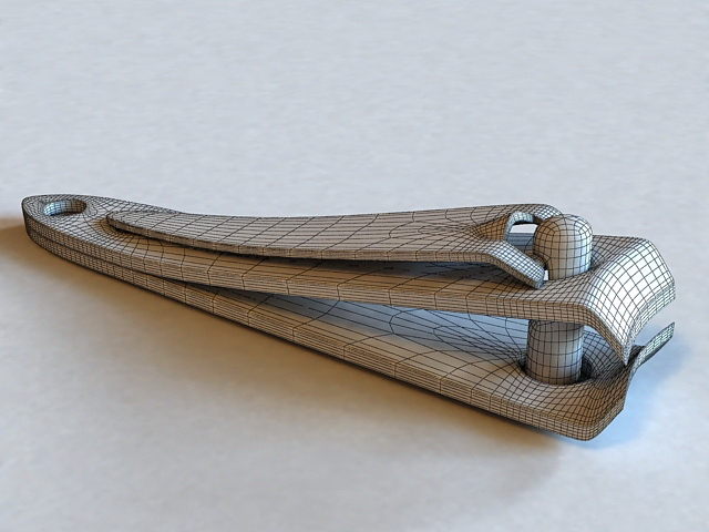 Nail Clipper 3d rendering