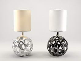 Minimalist Style Table Lamps 3d model preview