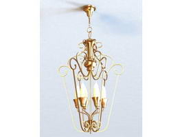 Art Deco Brass Chandelier 3d preview
