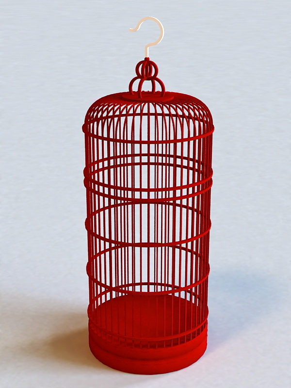 Tall Decorative Bird Cage 3d rendering