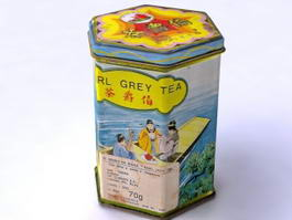 Tea Tin Storage Container 3d preview