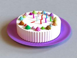 Happy Birthday Cake 3d preview