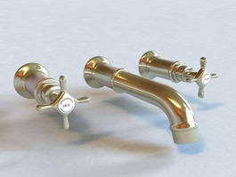 3-Hole Basin Mixer 3d preview
