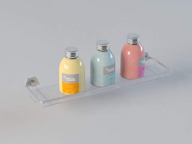 Bathroom Shampoo Shelves 3d rendering