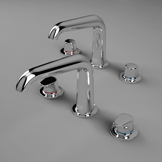Hansgrohe Axor Faucets 3d rendering