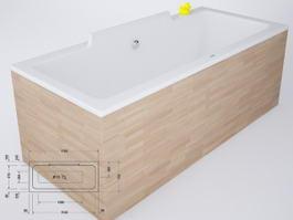 Duravit Vero Tub 3d preview