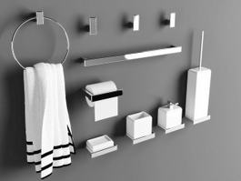 Bathroom Accessory Set 3d preview