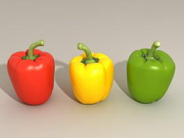 Sweet Bell Peppers 3d preview