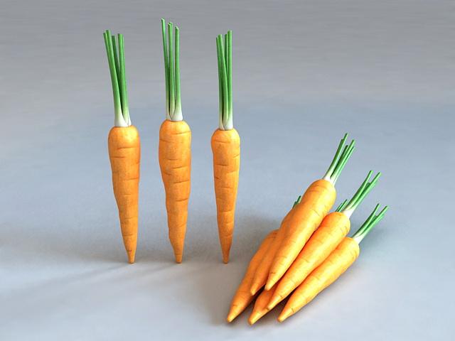 Orange Carrots 3d rendering