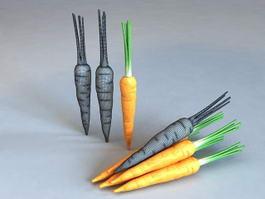 Orange Carrots 3d preview