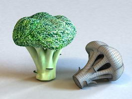 Broccoli Florets 3d preview