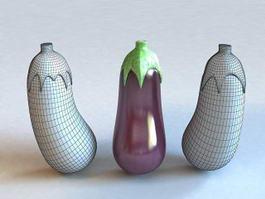 Purple Vegetables Eggplant 3d preview