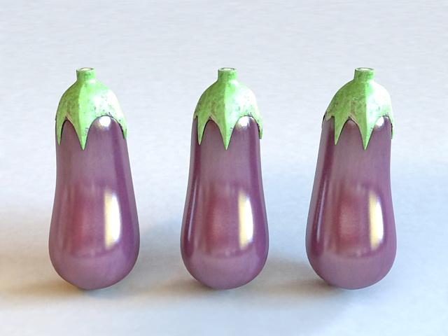 Purple Vegetables Eggplant 3d rendering