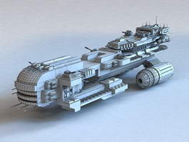 Sci-Fi Warship 3d model preview