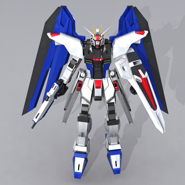 Gundam Seed Freedom 3d rendering