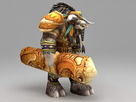 Warcraft Cairne Bloodhoof 3d preview
