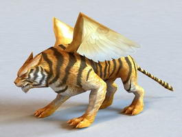 Winged Tiger 3d model preview