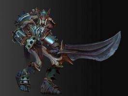 Medieval Skeleton Warrior 3d preview