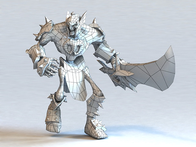 Medieval Skeleton Warrior 3d rendering