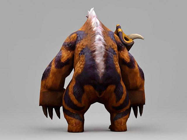 Druid Bear 3d rendering