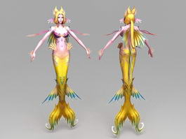 Yellow Mermaid 3d preview