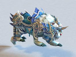 Armored White War Tiger 3d model preview