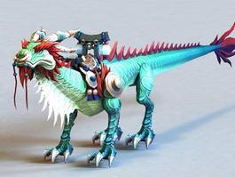 Thundering Jade Cloud Serpent 3d model preview