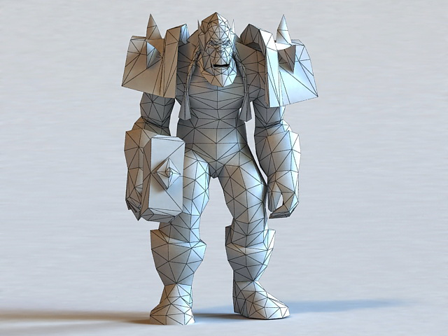 Thrall Character 3d rendering